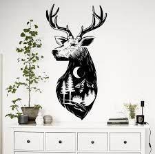 Deer Wall Decal Sticker Woodland Scene Decor Decals Market
