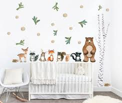 Woodland Wall Decal Fabric Decals Baby Wall Decal Room Etsy In 2020 Kids Room Wall Decals Woodland Wall Decals Kids Room Wall
