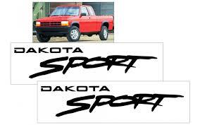 Graphic Express 1994 96 Dodge Dakota Dakota Sport Fender Decal Set