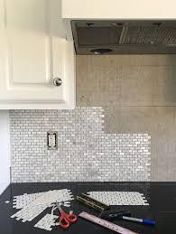 pearl tile backsplash