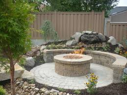 great circular paver patio kit with
