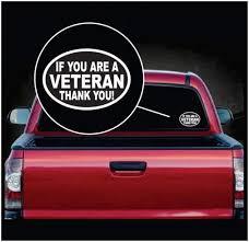 Veteran Thank You Oval Window Decal Sticker Sticker Flare Llc