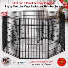 I Pet 36 8 Panel Pet Dog Playpen Puppy Exercise Cage Enclosure Play Pen Fence Nice N Cheap Variety Store