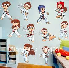 Amazing Taekwondo Man Wall Stickers Decals Kids Boys Room Diy Decor Wall Paster Martial Arts Sports Poster Free Shipp Martial Arts Kids Taekwondo Kids Room Art