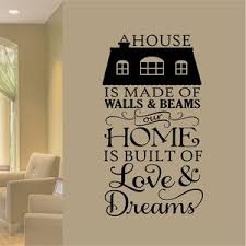 Wall Decal Home Built Love And Dreams Vinyl Lettering