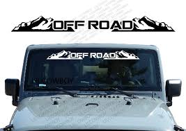 For Off Road Windshield Banner Decal Back Window Sticker Fits Jeep 4x4 Mud Buy At The Price Of 7 99 In Aliexpress Com Imall Com