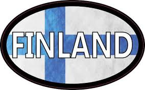 4in X 2 5in Flag Oval Finland Sticker Stickertalk