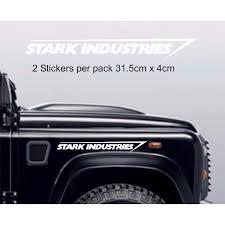 2pcs Stark Industries Stickers Marvel Avengers Sticker Iron Man Decal Vinyl Jdm Racing Sticker 31 5x4cm Stickers Aliexpress