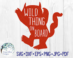 Wild Thing On Board Etsy