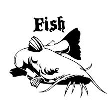 18 6cm 15 6cm Catfish Fish Animal Car Styling Car Sticker Decor Vinyl Decal S4 0097 Wish