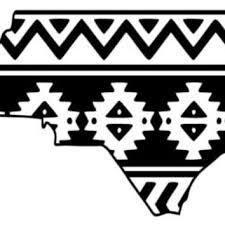 Aztec Tribal North Carolina Decal Aztec From Whitneysmonograms On