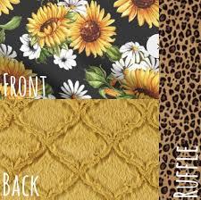 sunflower and leopard cheetah print