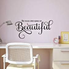 Amazon Com Be Your Own Kind Of Beautiful Inspirational Wall Decal Mirror Quote Wall Decor 24 W X 11 5 H Black Handmade