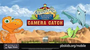 dinosaur train camera catch pbs kids