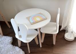 Kids Chair And Table Set Bunny Chair Wooden Chair Plywood Furniture Kids Furniture Furniture Toddler Chair
