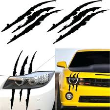 Claw Decal Mp Car Headlight Decoration Reflective Vinyl Sticker Monster Scratch White Up To Off On Auto Decor Re Toqueglamour