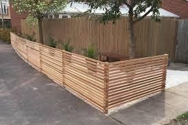 Western Red Cedar Half Height Slatted Screen Kits Front Garden Garden Fencing Uk Cedar Fence