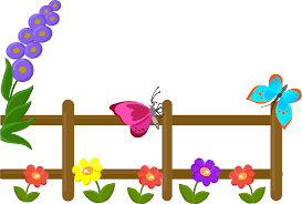 Fence With Flowers And Butterflies Clipart Free Download Transparent Png Creazilla