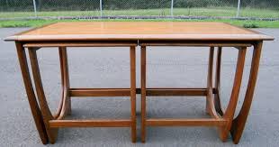 teak retro nest of coffee tables by g plan