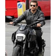 black sports leather biker jacket for men s