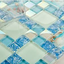 blue ed glass mosaic resin conch