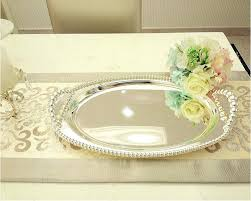 silver plated brass serving tray
