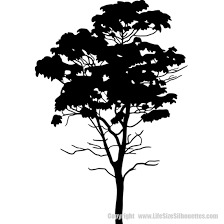 Tree Silhouette Decals Wall Decor Vinyl Trees Vinyl Wall Decals