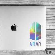 Bts Army Logo Kpop Vinyl Decal Etsy