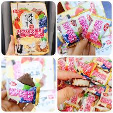 Combo 5 kẹo dẻo nhân trái cây bọc sôcôla Hàn Quốc thơm ngon ...