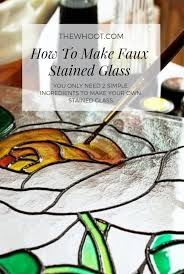how to make faux stained glass using 2