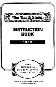 earth stove 1000c manual