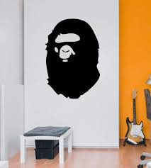 Amazon Com Bape Wall Decal Free Small Size Bathing Ape By Decalchief Kitchen Dining