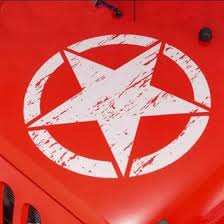 Shop 50cm Large Vinyl Stickers On Cars Army Star Decal Jeep Sticker Color White Online From Best Organizers On Jd Com Global Site Joybuy Com