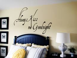 Always Kiss Me Goodnight Wall Decals Trading Phrases