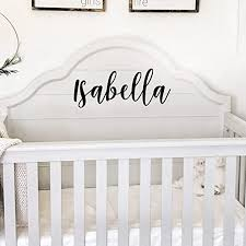 Amazon Com Vinyl Wall Art Decal Girls Name Isabella Text Name 12 X 30 Girls Bedroom Vinyl Wall Decals Cute Wall Art Decals For Baby Girl Nursery Room Decor