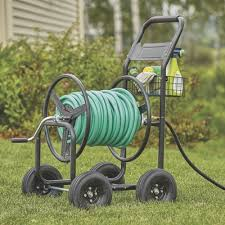 garden hose reel cart holds 300ft x