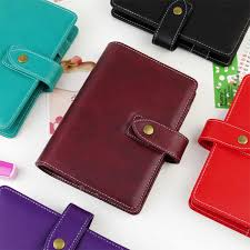 pu leather spiral loose leaf refillable