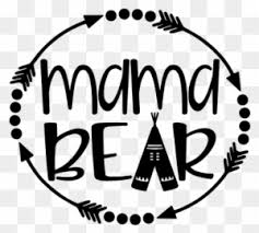 Mama Bear With Arrows And Teepee Vinyl Decal Sticker Baby Bear Decal Free Transparent Png Clipart Images Download