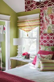 Red And Green Kids Bedroom Design Transitional Girl S Room