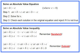 absolute value equations and