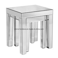 china mirrored nesting tables sofa