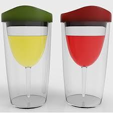 wineova insulated wine tumbler with lid