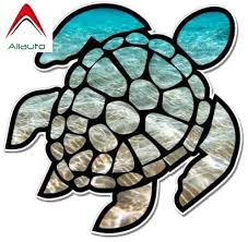 Aliauto Personality Car Sticker Sea Turtle Reflective Waterproof Sunscreen Laptop Auto Accessories Pvc Decal 12cm 12cm Car Stickers Aliexpress