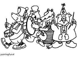 Canavals Kleurplaat Ook De Dieren Vieren Carnavalsfeest Zij Doen