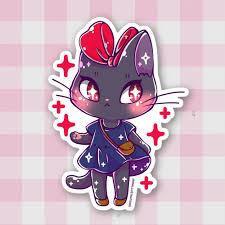 Kiki Jiji Fusion Sticker Jenni Illustrations Online Store Powered By Storenvy