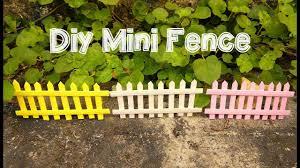 Diy Mini Fence For Dollhouse And Fairy Gardens Youtube