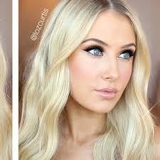 bridal makeup for blue eyes blonde hair