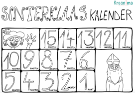 Sinterklaas Aftelkalender Downloadbaar Lesmateriaal Klascement