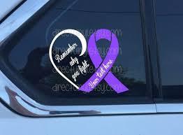 Purple Awareness Heart Fight Window Decal Epilepsy Lupus Etsy