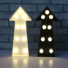 Direction Arrow Mini Led Night Light Modern Plastic Kids Game Room Wall Mounted Lamp In Black White Beautifulhalo Com